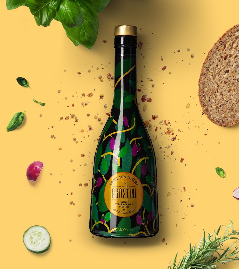 Agostini - Ascolana Tenera - Olio extravergine di oliva - 100% italiano